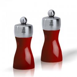 Fidji Laqué Rouge 12 cm - Duo de moulins manuel Peugeot
